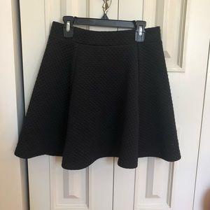 Black High Waisted Skater Skirt from H&M
